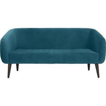 Seating - rue apartment sofa in sofas | CB2 - teal green sofa, modern peacock blue sofa, teal velvet sofa, modern teal sofa,