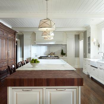 Mixed Island Countertops, Transitional, kitchen, Yunker Associates