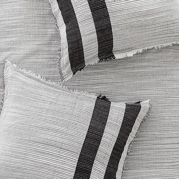 Bedding - 4040 Locust Spacedye Stripe Sham Set I Urban Outfitters - gray cotton pillowcase, gray cotton pillow sham, gray striped pillow case, gray cotton striped pillow sham,