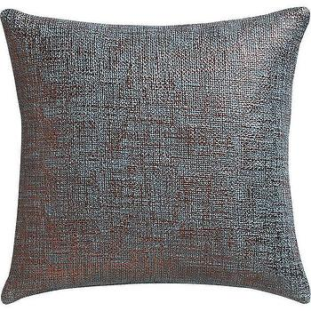 Pillows - glitterati slate pillow I CB2 - slate gray pillow, woven gray pillow, metallic gray pillow,