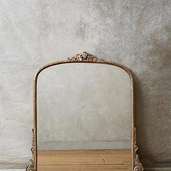 Mirrors - Gleaming Primrose Mirror I anthropologie.com - arched gold mirror, arched gilt mirror, arched traditional mirror, traditional gilt mirror,
