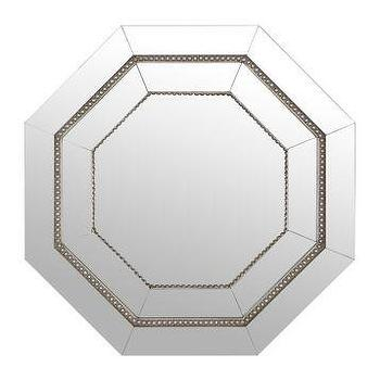 Mirrors - Octagonal Frameless Mirror, 22 in. | Kirklands - octagonal mirror, frameless octagonal mirror, beaded octagonal mirror,