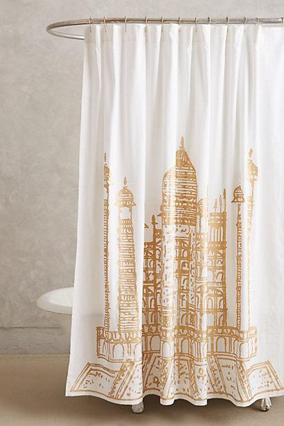 taj mahal shower curtain i. Black Bedroom Furniture Sets. Home Design Ideas