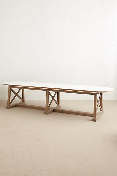 Lacquered farmhouse table i for Extra long farmhouse table