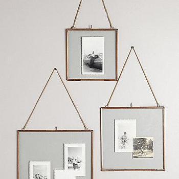 Art/Wall Decor - Hinged Hanging Frame I anthropologie.com - copper frame, hanging copper frame, hinged metal frame, chain hung frame,