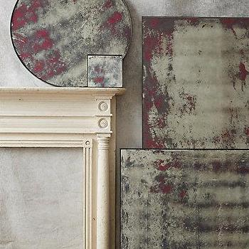 Mirrors - Color-Washed Mirror I anthropologie.com - color washed mirror, pink color washed mirror, antiqued color washed mirror,
