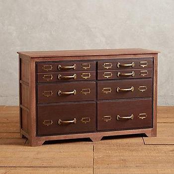 Storage Furniture - Six-Drawer Printmakers Dresser I anthropologie.com - vintage style dresser, printmakers dresser, printmakers style dresser,