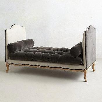 Seating - Vilas Velvet Daybed I anthropologie.com - gray velvet daybed, tufted velvet daybed, gray tufted velvet daybed,