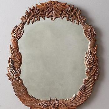 Handcarved Menagerie Mirror I anthropologie.com