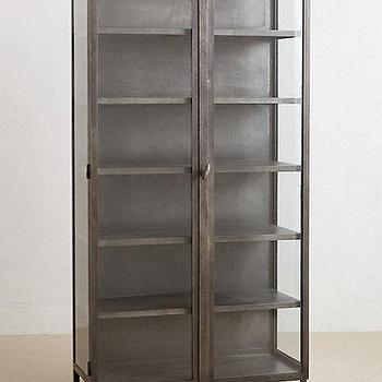 Storage Furniture - Curator's Cabinet I anthropologie.com - iron cabinet, iron glass front cabinet, industrial cabinet, industrial glass front cabinet,