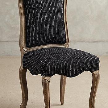 Seating - Kantha Beatrix Dining Chair I anthropologie.com - kantha chair, kantha dining chair, french style chair, black french dining chair,