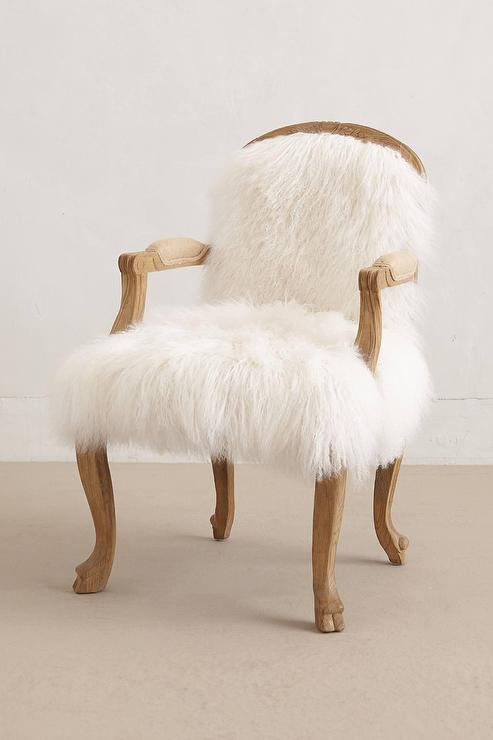 Luxe Fur Occasional Chair I Anthropologie