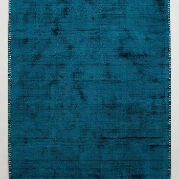 Rugs - Whipstitch Rug I Anthropologie - teal blue rug, dark turquoise rug, teal area rug,