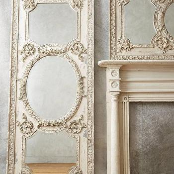 Mirrors - Rococo Mirror I Anthropologie - rococo mirror, carved french mirror, ornate french mirror,