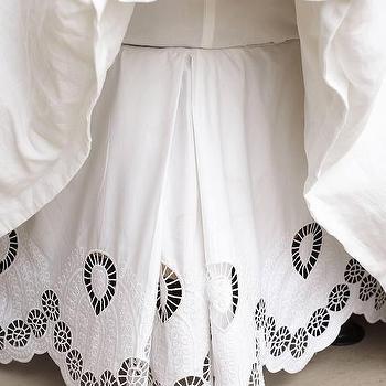 Bedding - Eyelet Embroidered Bedskirt I Anthropologie - eyelet bedskirt, eyelet embroidered bedskirt, round eyelet bedskirt,