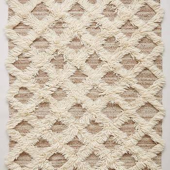 Rugs - Lattice Flokati Rug I Anthropologie - lattice flokati rug, geometric flokati rug, trellis flokati rug,
