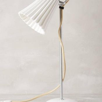 Lighting - Hector Pleat Table Lamp I Anthropologie - pleated white shade lamp, pleated china table lamp, retro white desk lamp,