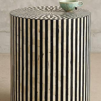 Tiles - Bone Inlay Side Table I Anthropologie - bone inlaid accent table, bone inlay side table round bone inlay side table,