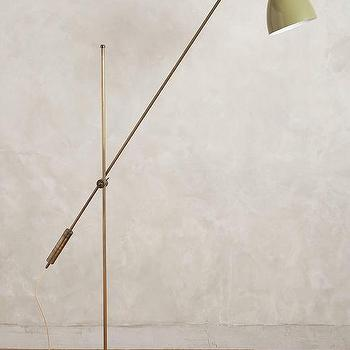 Lighting - Task Overreach Floor Lamp I Anthropologie - pivot arm floor lamp, pivoting floor lamp, retro floor lamp, green floor lamp,