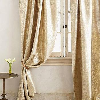 Gilded Waves Curtain I Anthropologie