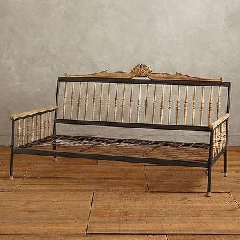 Beds/Headboards - Handcarved Valpo Twin Daybed I Anthropologie - victorian daybed, carved wood daybed, wood and iron daybed,