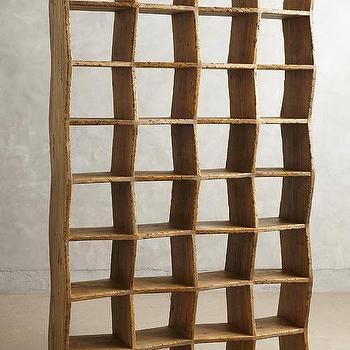 Storage Furniture - Bombora Bookshelf I Anthroplogie - pine bookshelf, rustic pink bookshelf, contemporary pink bookshelf,