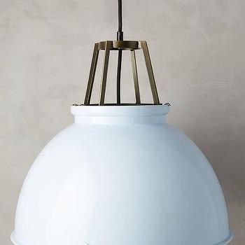 Lighting - Titan Pendant Lamp I Anthropolgie - white dome pendant, white aluminum dome pendant, white industrial dome pendant