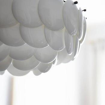 Lighting - Pembridge Bone China Pendant Lamp I Athropologie - white disc pendant light, white disc chandelier, china disc pendant lamp,