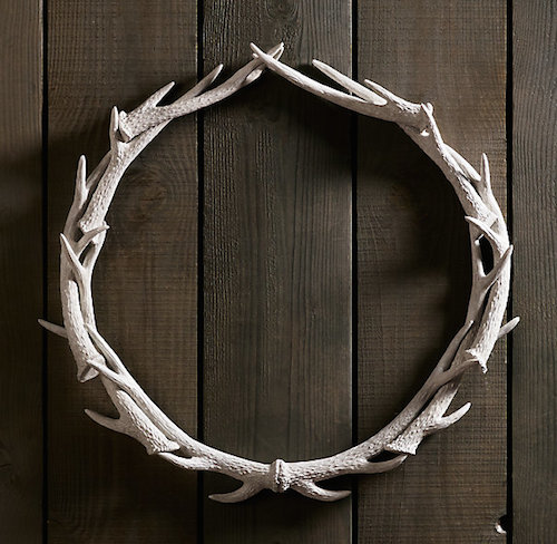 Restoration Hardware Weathered Antler Wreath