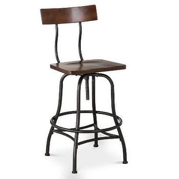Seating - Threshold Industrial Barstool - Brown I Target - industrial barstool, adjustable industrial barstool, modern industrial barstool,