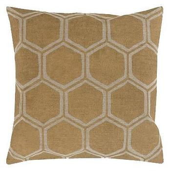 Pillows - Toss Pillow Linen Hexagon - linen hex pillow, beige hex pillow, linen hexagonal pillow,