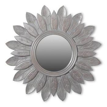 Mirrors - Safavieh Ashley Mirror I Target - gray flower wall mirror, gray sun shaped wall mirror, gray sun wall mirror,