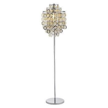 Lighting - Adesso Shimmy Floor Lamp Silver I Target - gold and silver floor lamp, modern metallic floor lamp, metallic disc floor lamp,