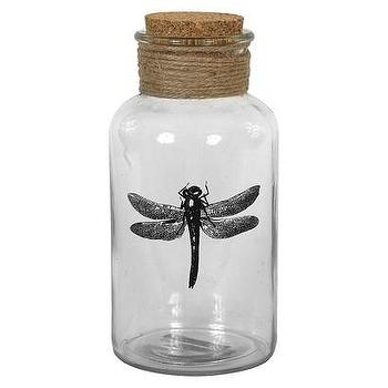 Decor/Accessories - Glass Bottle with Cork Top - Dragonfly I Target - dragonfly decor, dragonfly bottle, decorative glass bottle, dragonfly home decor,