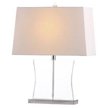 Lighting - Safavieh Salcha Table Lamp - White I Target - modern crystal table lamp, curvaceous crystal lamp, crystal lamp with rectangularl shade,