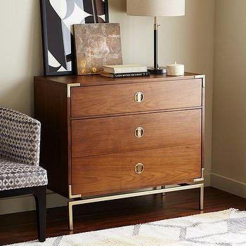 Malone Campaign 3-Drawer Dresser, Walnut I Target