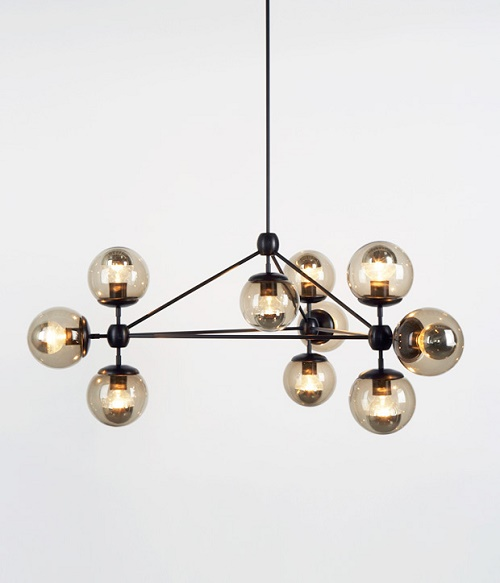 DWR Modo Chandelier 3 Sided 10 Globe Look 4 Less