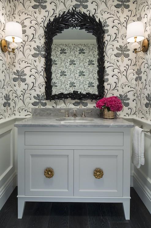 Quartz Wall Sconces Transitional Bathroom Martha O