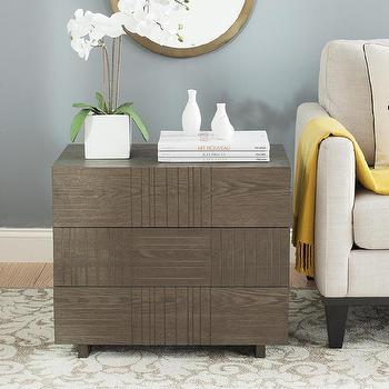 Storage Furniture - Mitch Cabinet in Dark Brown design by Safavieh I Burke Decor - rough hewn wood cabinet, modern wooden cabinet, mid century wood cabinet, etched wood cabinet,