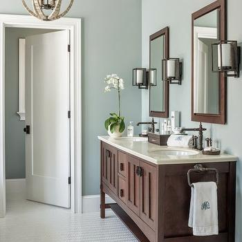 Gray Wisp, Transitional, bathroom, Benjamin Moore Gray Wisp, Reu Architects