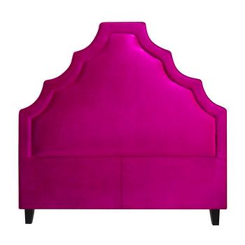 Beds/Headboards - Lexi Headboard design by BD Fine I Burke Decor - fuchsia pink headboard, fuchsia pink velvet headboard, pink velvet headboard,