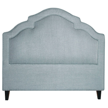 Beds/Headboards - Sheila Headboard design by BD Fine I Burke Decor - blue arched headboard, duck egg blue headboard, blue on blue headboard,