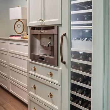 Reu Architects - closets - Benjamin Moore - Gray Wisp - closet coffee machine, built in coffee machine, master closet coffee machine, coffee machine in closet, coffee machine in master closet, wine cooler in closet, closet wine cooler, built in dresser, gray wisp, closet dresser, built in closet dresser,