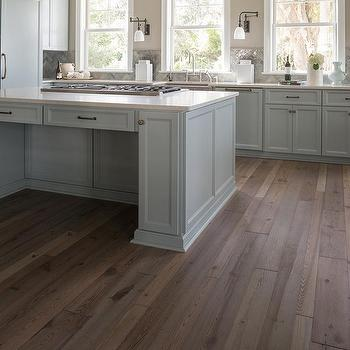 Reclaimed Wood Floors, Transitional, kitchen, Benjamin Moore Shale, Reu Architects