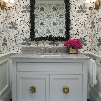 Quartz Wall Sconces, Transitional, bathroom, Martha O'Hara Interiors