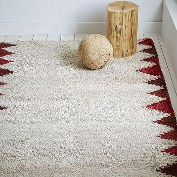 Steven Alan Triangle Edge Wool Shag Rug, Huckleberry I West Elm