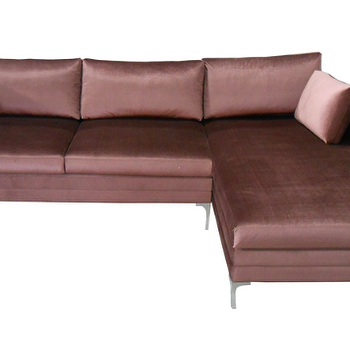 Seating - Todd Sectional Sofa design by BD Fine I Burke Decor - mauve velvet sectional, mauve velvet chaise sectional, velvet sectional with chaise,