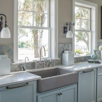 Herringbone Kitchen Backsplash, Transitional, kitchen, Benjamin Moore Shale, Reu Architects
