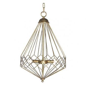 Lighting - Chan Geo Collection Look No.9 Chandelier I Burke Decor - gold diamond shaped chandelier, geometric gold chandelier, gold open diamond chandelier,