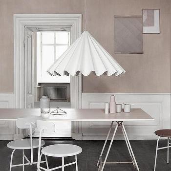 Lighting - Dancing Pendant design by Iskos-Berlin for Menu I Burke Decor - fluted white pendant light, cone shaped white pendant light, modern fluted pendant light,